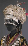 Cropped Miao Women's Silver Hat