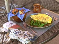 Green chili omelet