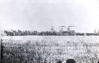 Hogin Ranch at Minturn, Madera Cty, Threshers and Mule Teams, Archival