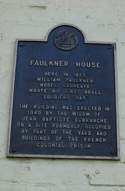 New Orleans - Faulkner House Plaque 10-14-10 by PHKushlis  IMG_1345_edited-1