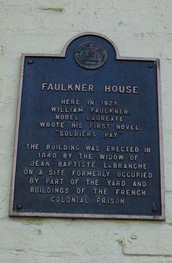 New Orleans - Faulkner House Plaque 10-14-10 by PHKushlis  IMG_1345_edited-1