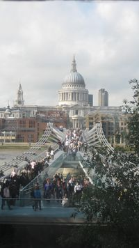 London St. Paul's and Millenium Bridge from New Tate 8-2010 IMG_1160