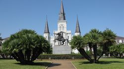 New Orleans, St. Louis Cathedral and Jackson Statue good by PHKushlis 10-14-10 IMG_1362
