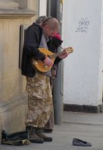 Photo 43 Street entertainment mandolinist Somerset Trip Part 1 summer 2011