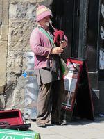 Photo 16 Glastonbury street Bagpiper Somerset Trip Part 1 summer 2011