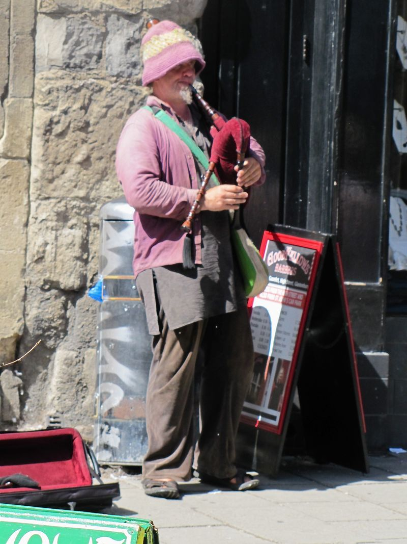 Photo 16 Glastonbury street Bagpiper Somerset Trip Part 1 summer 2011