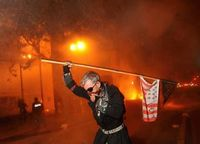 Post-strike tear gas by Noah Berger