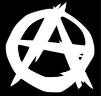 B&W Anarchy symbol