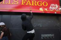 Wells fargo sign attack