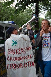 Berlin protesting corportization of art