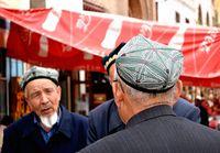 Kashgar men talking