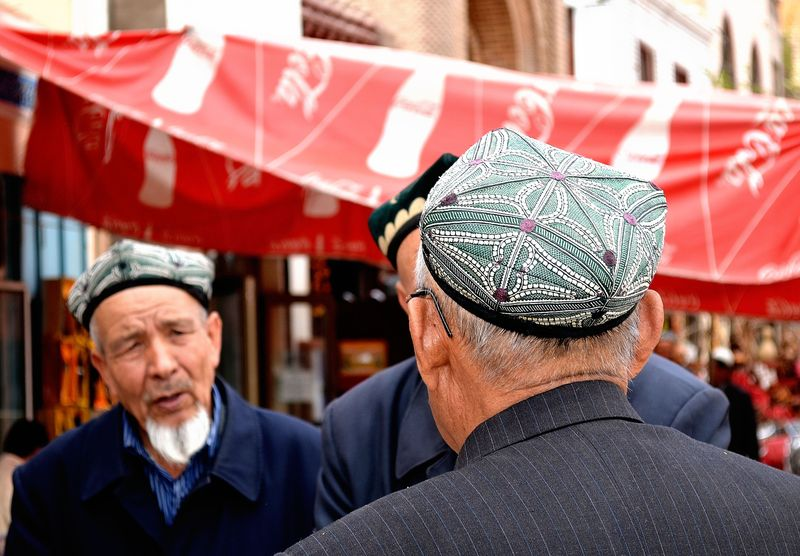 Kashgar men talking