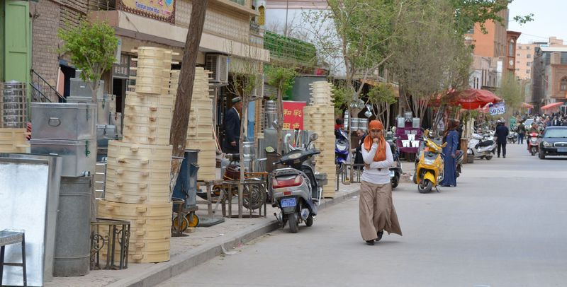 Kashgar girl in street