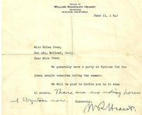 Letter to Ellen Ives from WRH 6-11-1943