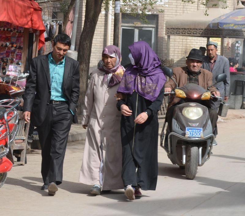 Kashgar veiled ladies