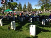 Memorial Day, National Cemetery before the ceremony, May 25, 2015