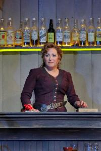 Minnie behind the Polka bar Santa Fe Opera 2016