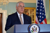 Tillerson at podium address to press in DC 35161123016_b6fac9accf_b