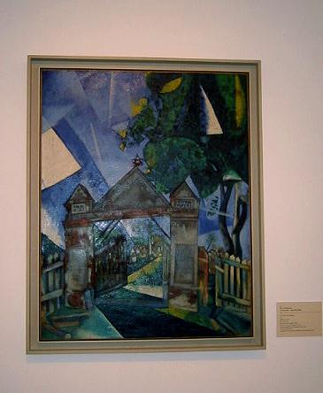 Marc Chagall, Les Portes du cimetiere, 1917