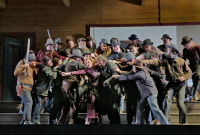 Minnie with pistol, Johnson-Ramerrez, miners-vigillantes, Santa Fe Opera 2016