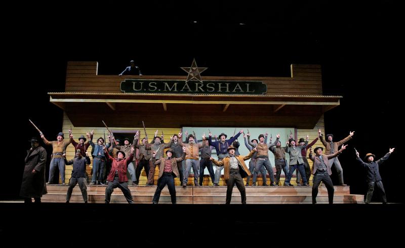 Vigillante (Miners (US Marshall Five Star Badge on top of building) Santa Fe Opera 2016
